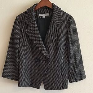 Ann Klein Wool Blend Tweed Blazer Jacket. 4